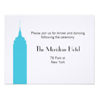 NYC Skyline Recption Card - Empire State Building Announcements