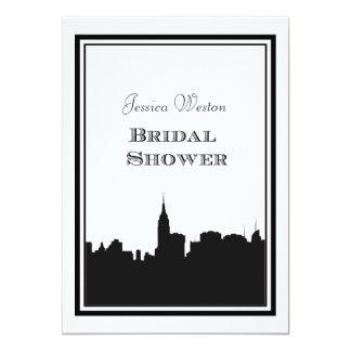 "NYC Skyline Silhouette #2 DIY Bridal Shower 5"" X 7"" Invitation Card"