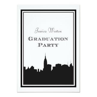 "NYC Skyline Silhouette #2 DIY Graduation 5"" X 7"" Invitation Card"