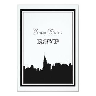 """NYC Skyline Silhouette #2 DIY RSVP 3.5"""" X 5"""" Invitation Card"""