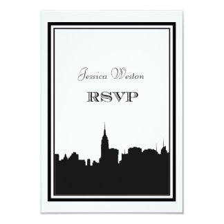 NYC Skyline Silhouette #2 DIY RSVP Card