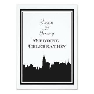 NYC Skyline Silhouette #2 DIY Wedding Invite