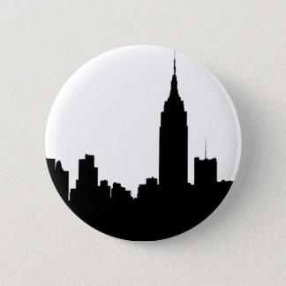 NYC Skyline Silhouette, Empire State Bldg #1 2 Inch Round Button