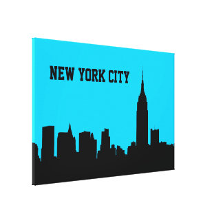 NYC Skyline Silhouette, Empire State Bldg #1 Canvas Print