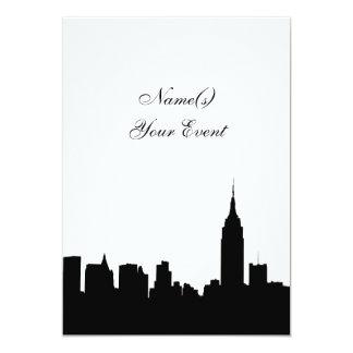 NYC Skyline Silhouette, ESB #1 BW Party Invite