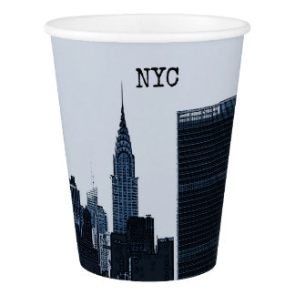 NYC Skyline Skyscraper Paper Cups