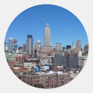 NYC skyline Round Stickers