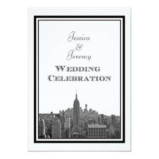 NYC Skyline Top of the Rock ESB #3 DIY Wedding Custom Invites