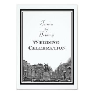NYC Skyline Union Sq Etched DIY Wedding Custom Invitation