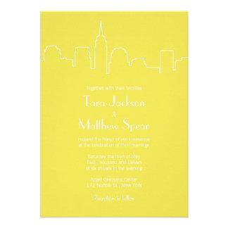 NYC Skyline Wedding Invitation