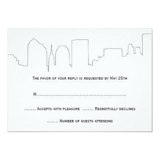 NYC Skyline Wedding RSVP Cards