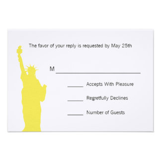 NYC Skyline Wedding RSVP Cards Announcements