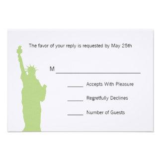 NYC Skyline Wedding RSVP Cards Invites