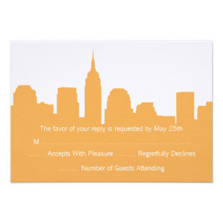 NYC Skyline Wedding RSVP Cards Custom Invites