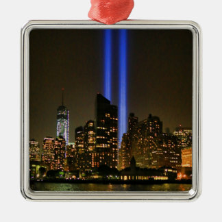 NYC Skyline: WTC  9/11 Tribute In Light 2013 #1 Metal Ornament