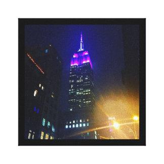 NYC Skyscraper Purple Empire State Building Night Canvas Print