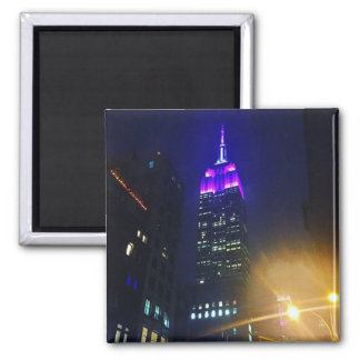 NYC Skyscraper Purple Empire State Building Night Magnet
