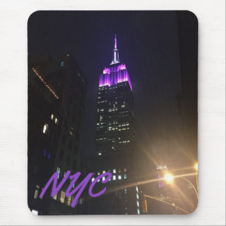 NYC Skyscraper Purple Empire State Building Night Mouse Pad