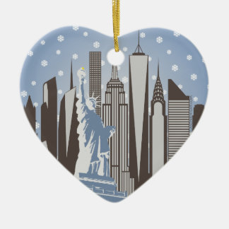 NYC Snowflakes Ceramic Ornament