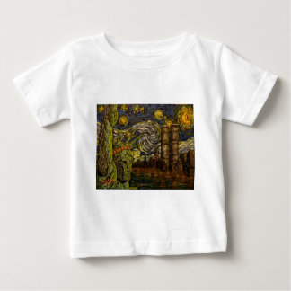 NYC Starry Night.: Twin Towers (The True Towers) Baby T-Shirt