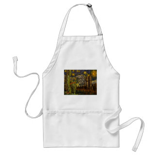 NYC Starry Night: Twin Towers (The True Towers) Standard Apron
