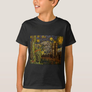 NYC Starry Night: Twin Towers (The True Towers) T-Shirt