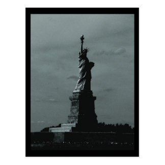 NYC Statue of Liberty B&W Postcard