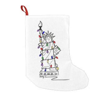 NYC Statue of Liberty Christmas Lights Stocking