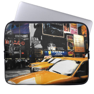 NYC Taxi Cabs Time Square Computer Sleeve Case