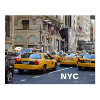 NYC taxi postcard