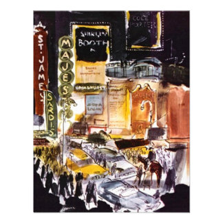 NYC THEATRE DISTRICT INVITATION EASY TO CUSTOMIZE