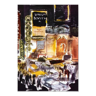 """NYC Theatre District RSVP Card ~Fun to Customize 3.5"""" X 5"""" Invitation Card"""