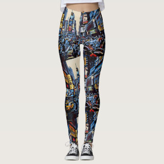 NYC Times Square Patterned Leggings