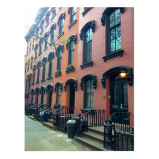NYC Townhouses, E. 18th Street, Postcard