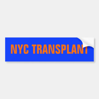 NYC Transplant Bumper Sticker