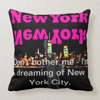 NYC Travel Pillow New York Skyline Manhattan