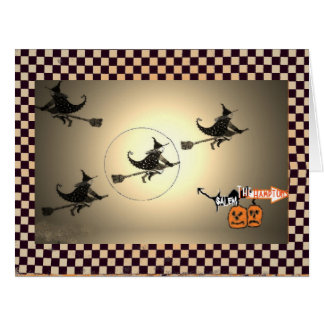 NYC Vintage Witch Halloween Card