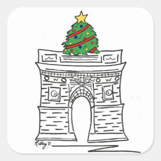 NYC Washington Square Arch Christmas Tree Sticker