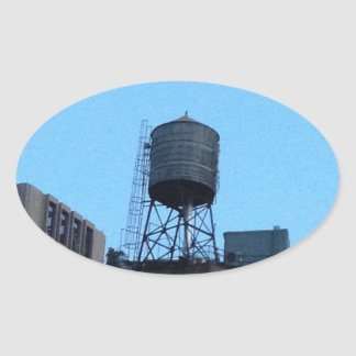 NYC Water Tower Oval Sticker