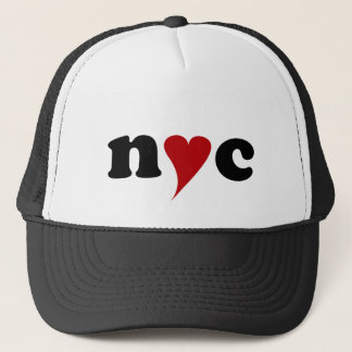 nyc with heart trucker hat