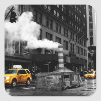 NYC Yellow Cab Calcomania Cuadradas Personalizada