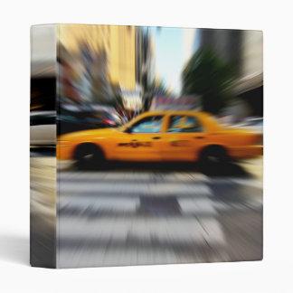 "NYC Yellow Taxi Blur 1"" Photo Album Binder"
