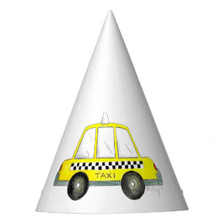 NYC Yellow Taxi Cab New York City Birthday Party Hat