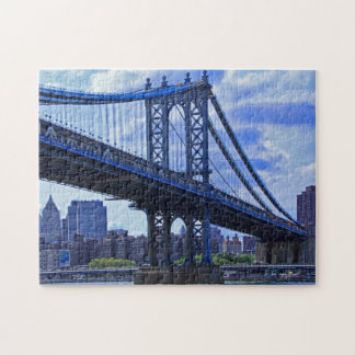 NYC's Manhattan Bridge A2 Jigsaw Puzzle