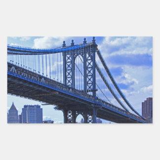 NYC's Manhattan Bridge A2 Rectangular Sticker