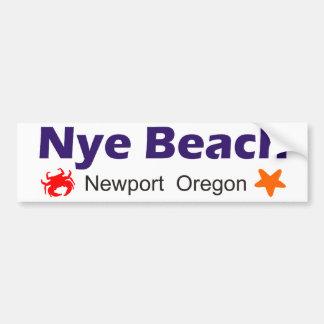 Nye Beach Newport Oregon Bumper Sticker