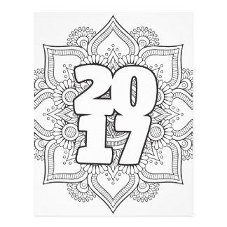 NYE / Class of 2017 Coloring Page Mandala