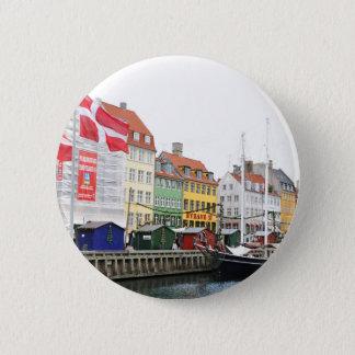 Nyhavn canal in Copenhagen, Danmark 2 Inch Round Button