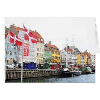 Nyhavn canal in Copenhagen, Danmark Card