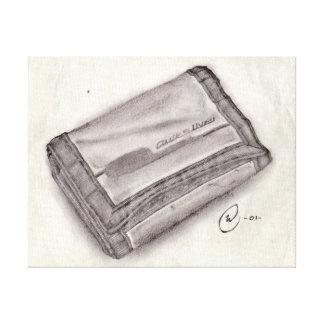Nylon Wallet Pencil Sketch - Pop Culture Stretched Canvas Prints